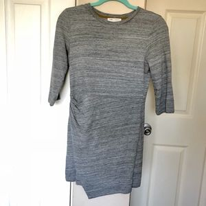 Zara Trafaluc Asymmetric Bodycon Grey Dress